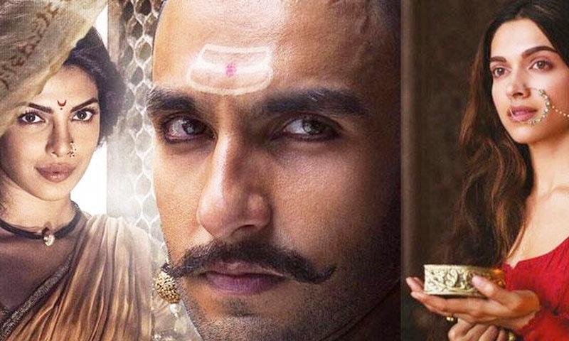 تینوں اداکار باجی راؤ مستانی فلم میں ایک ساتھ کام کر چکے ہیں—اسکرین شاٹ