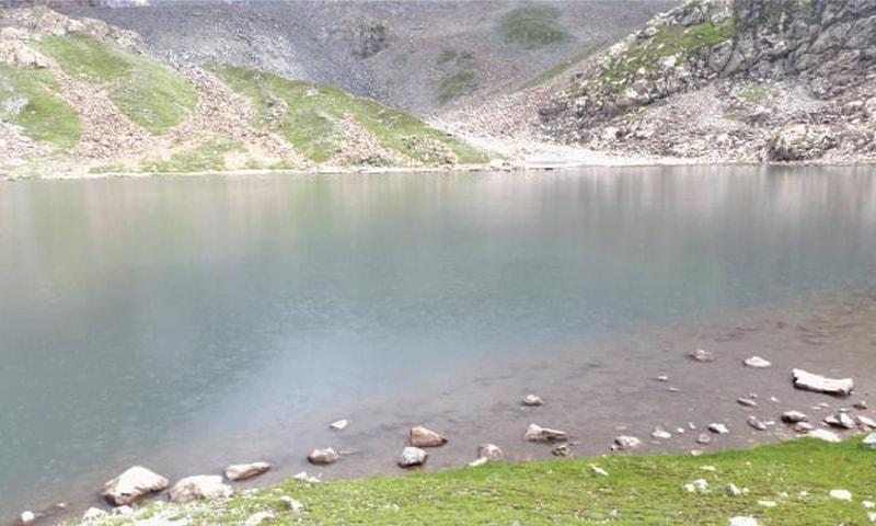 Takht Baram Khan Lake in Shangla. — Dawn
