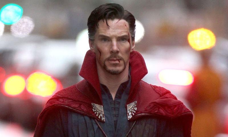 بینڈکٹ کیمبربیچ مارول اسٹوڈیو کے کامک کردار ادا کرنے والے مہنگے اداکار بھی ہیں—اسکرین شاٹ