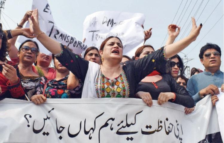 Transgender persons protest violence, hate against them