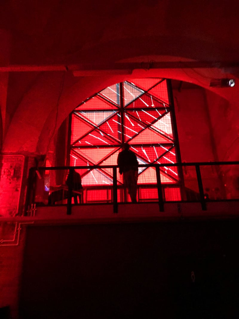 Blank club set in an old, run-down arsenal factory.