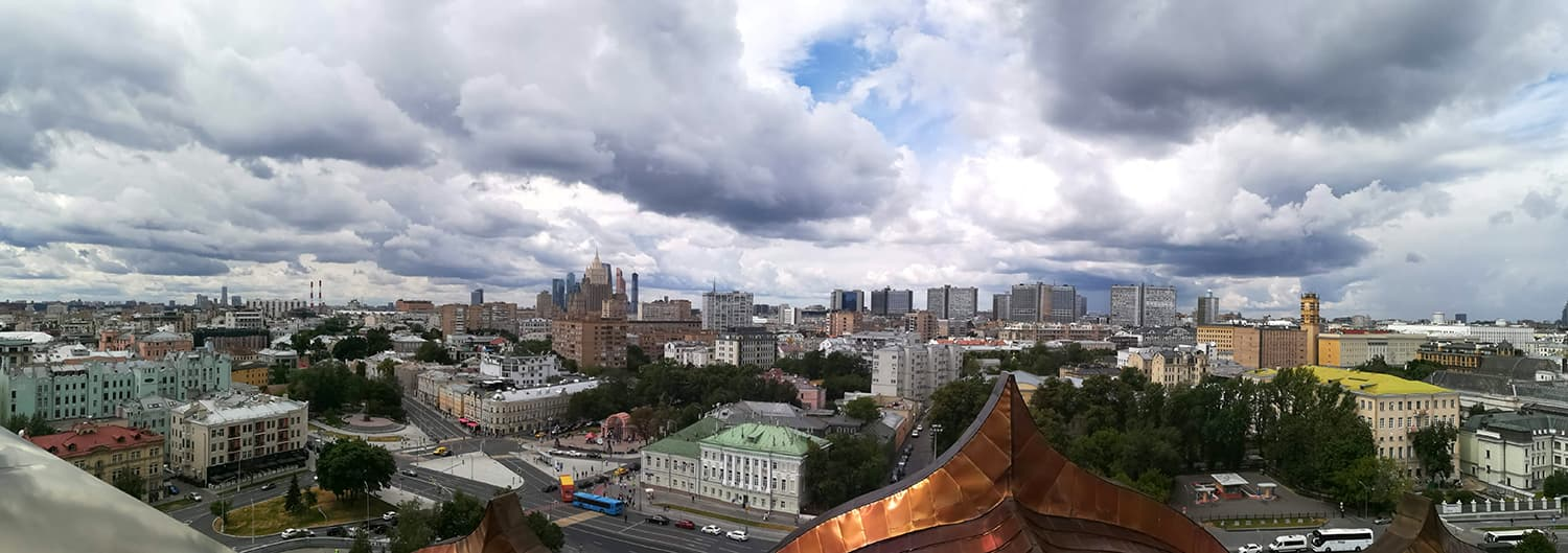 Panoramic shot from the cathedral terrace.