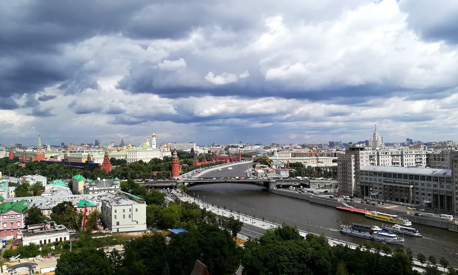 There are four terraces to the cathedral, each offering a different view of Moscow.