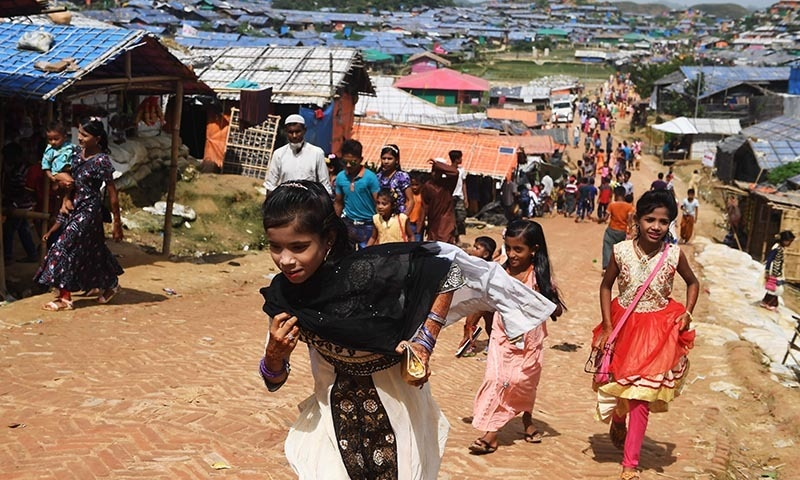 Rohingya mark Eid, one year after Myanmar crisis began