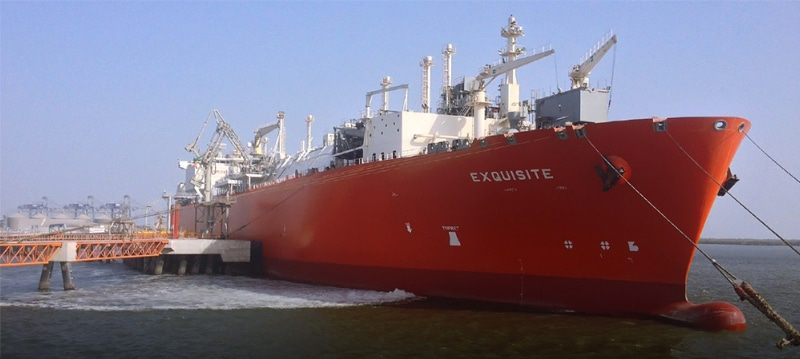 The Floating Storage and Re-gasification Unit (FSRU) carrying first shipment of liquefied natural gas from Qatar arrived at the Port Qasim LNG Terminal in March 2016.