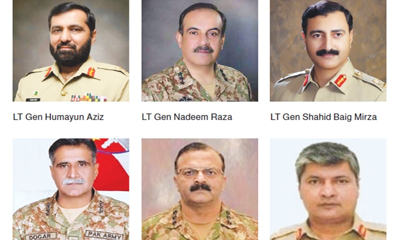 One-third of corps commanders replaced in major reshuffle - Pakistan