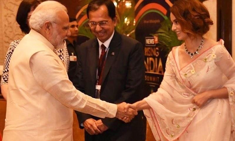 ادکاارہ  نریندر مودی کو جمہوریت کے لیے بہترین شخص قرار دے چکی ہیں—فائل فوٹو: انڈیا ٹی وی