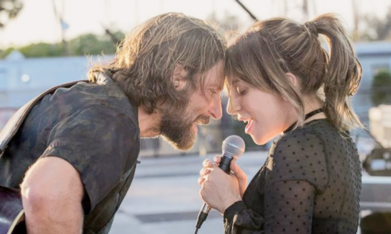 ACTOR Bradley Cooper and Lady Gaga in her debut feature film A Star is Born.