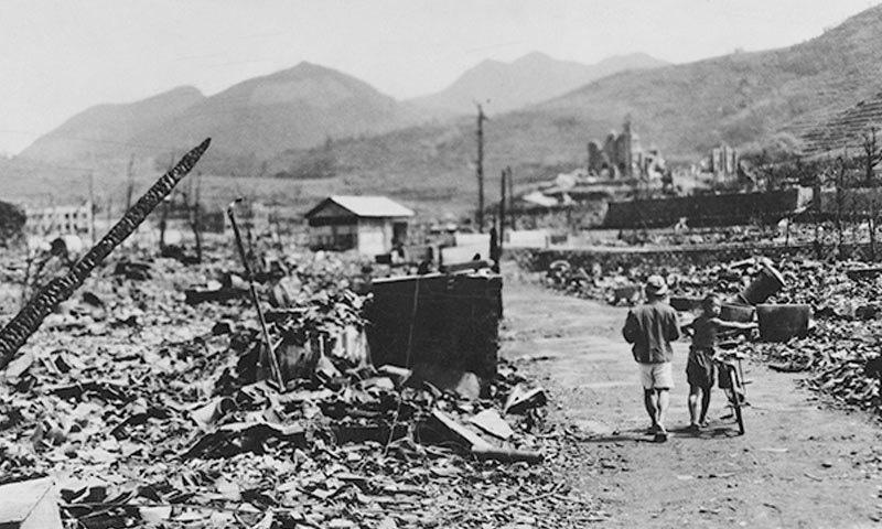 دوسری بار 9 اگست 1945 کو امریکا نے ہی جاپانی شہر ناگاساکی پر بم گرایا—فوٹو: ہسٹری ڈاٹ نیٹ