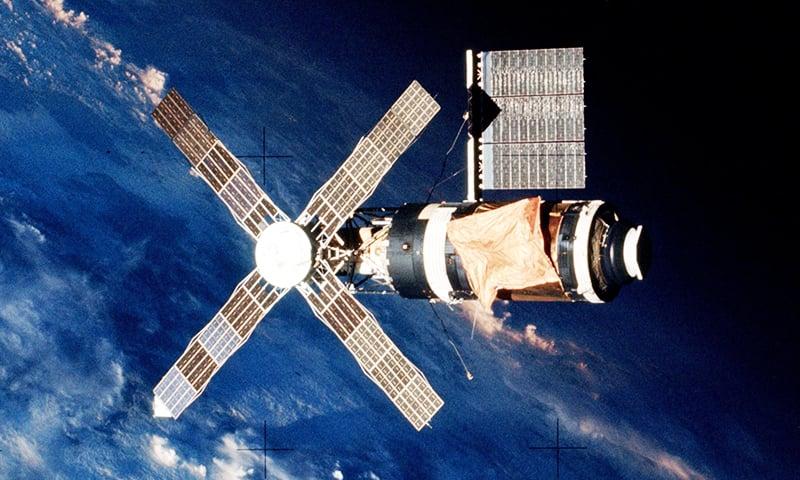 امریکی خلائی اسٹیشن اسکائی لیب کی ایک تصویر