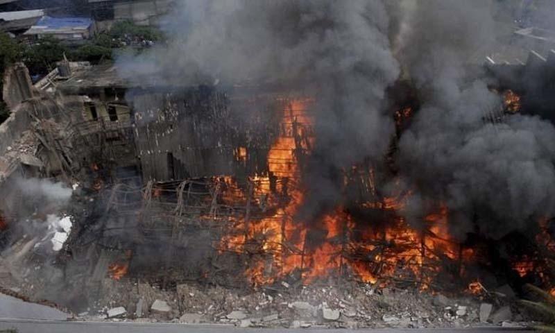 گزشتہ سال اس اسٹوڈیو میں آتشزدگی کا واقعہ پیش آیا تھا —۔