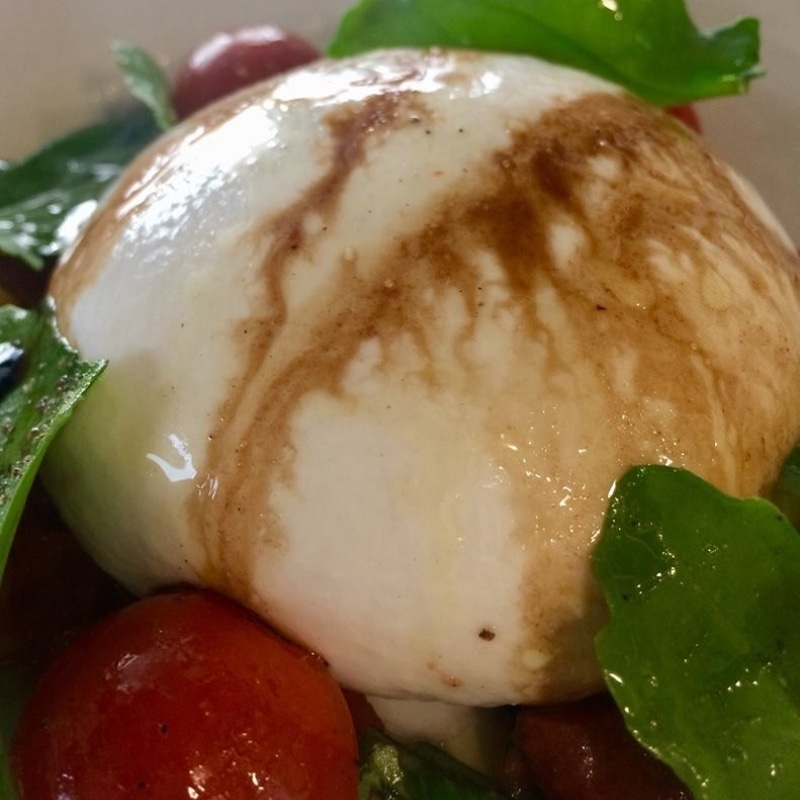 Sadly, the burrata didn't taste fresh which was a bummer