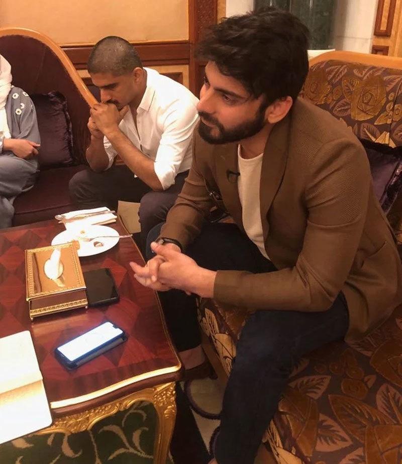 اداکار سعودی میڈیا کی توجہ کا بھی مرکز رہے—فوٹو: عرب نیوز