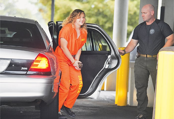 Augusta (Georgia, US): In this Aug 23 file photo, Reality Winner arrives at a court after she pleaded guilty in June to copying a classified US report and mailing it to an unidentified news organisation.—AP