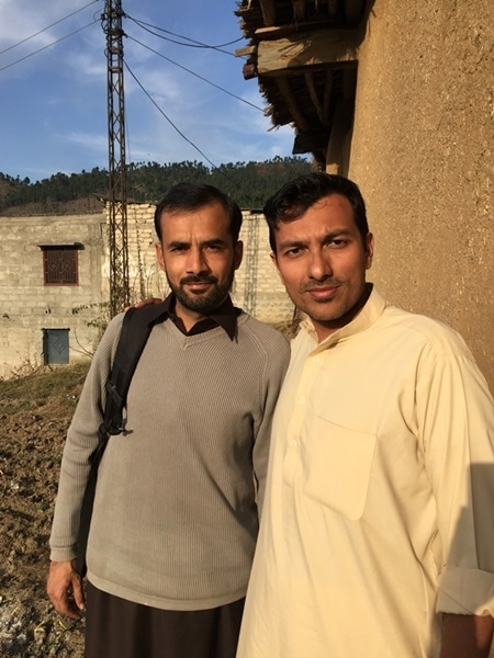 A photo of myself (right) with my cousin Moazzam Shah in the village of Bandi Sadiq in Oghi, where I was a guest.