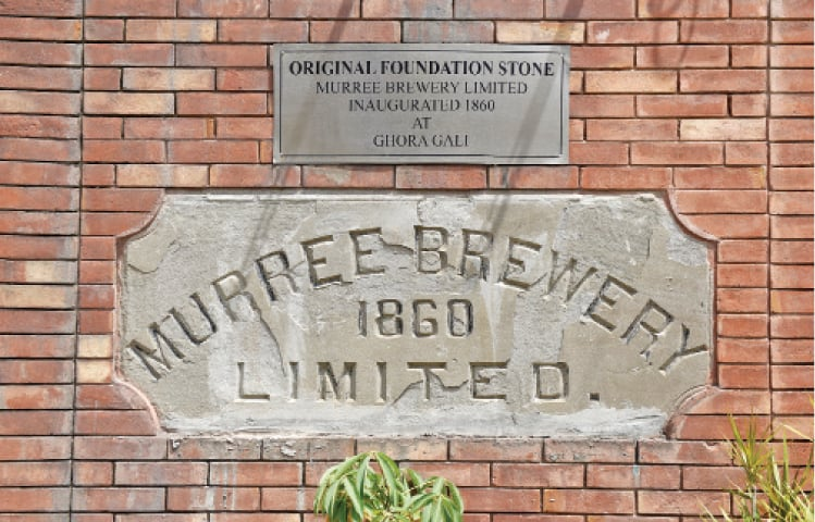 A plaque from the old Murree Brewery — the brewery opened in Murree in 1860, but after it was burnt in 1947 the business shifted to the Rawalpindi brewery.  — Photos by Tanveer Shahzad