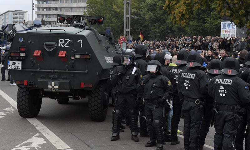German police end march envisioned as far-right springboard