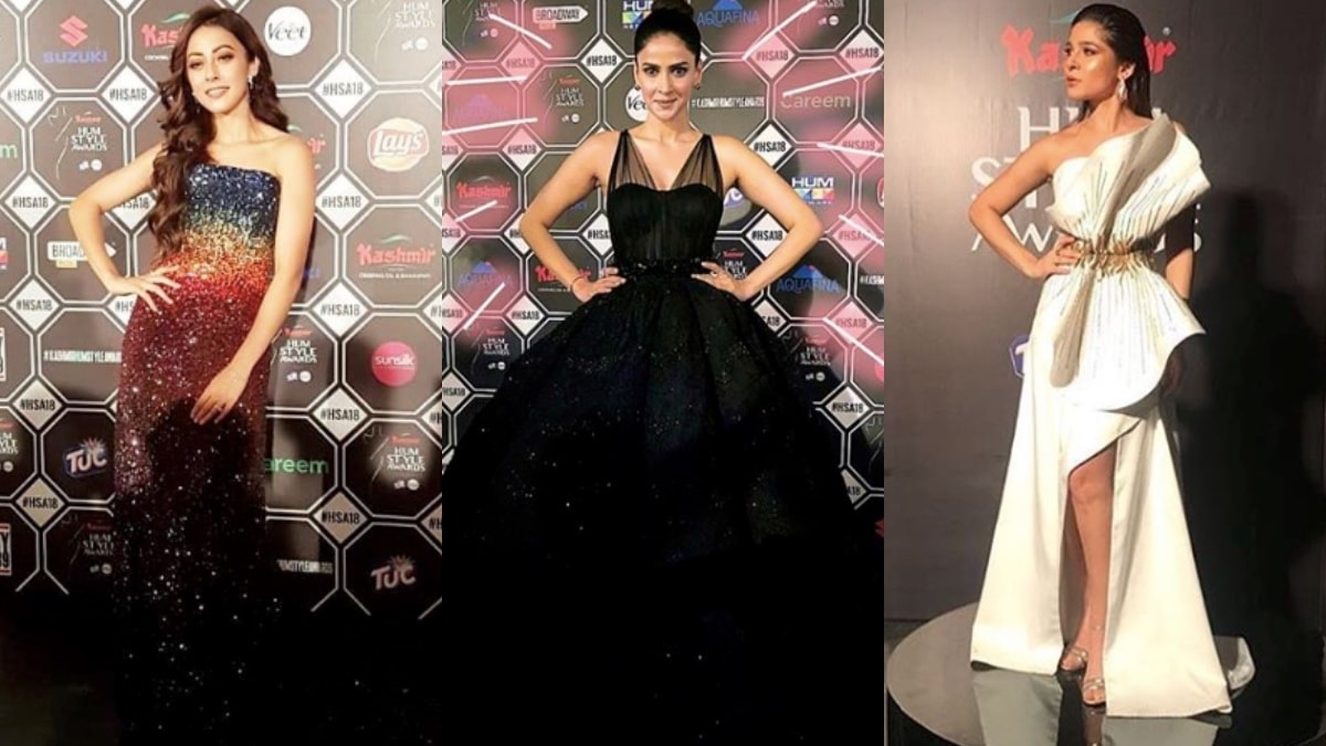 Who wore the better red carpet gown at the Hum Style Awards 2018?