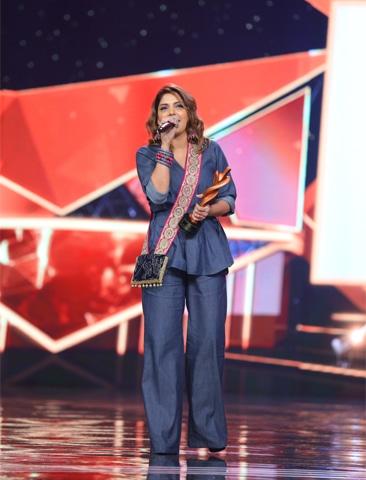 Hadiqa Kiani won the Most Stylish Performer, Female award