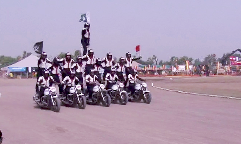 A scene from a Defence Day-related event in Peshawar. — DawnNewsTV
