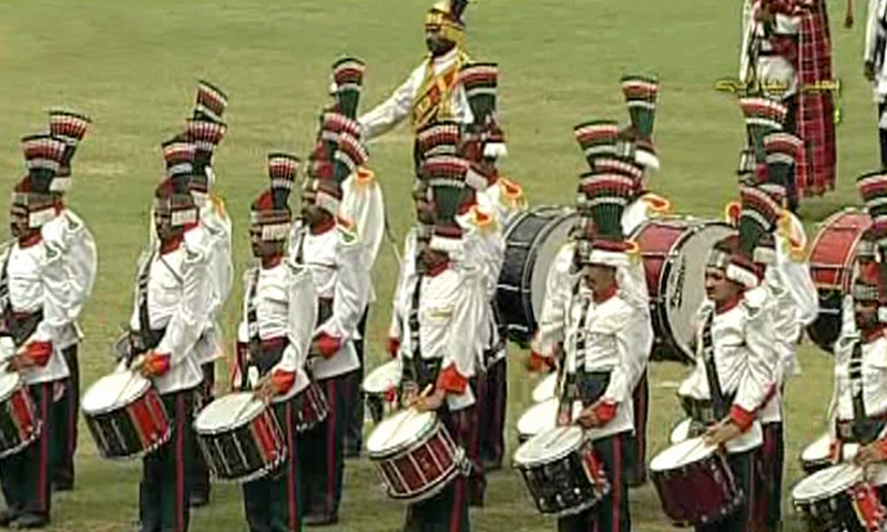 A band performs at a ceremony in Lahore. — DawnNewsTV