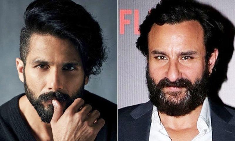 دونوں اداکاروں کی داڑھی ماضی کے مقابلے اس وقت بڑی ہے—فوٹو: اسپاٹ بائے