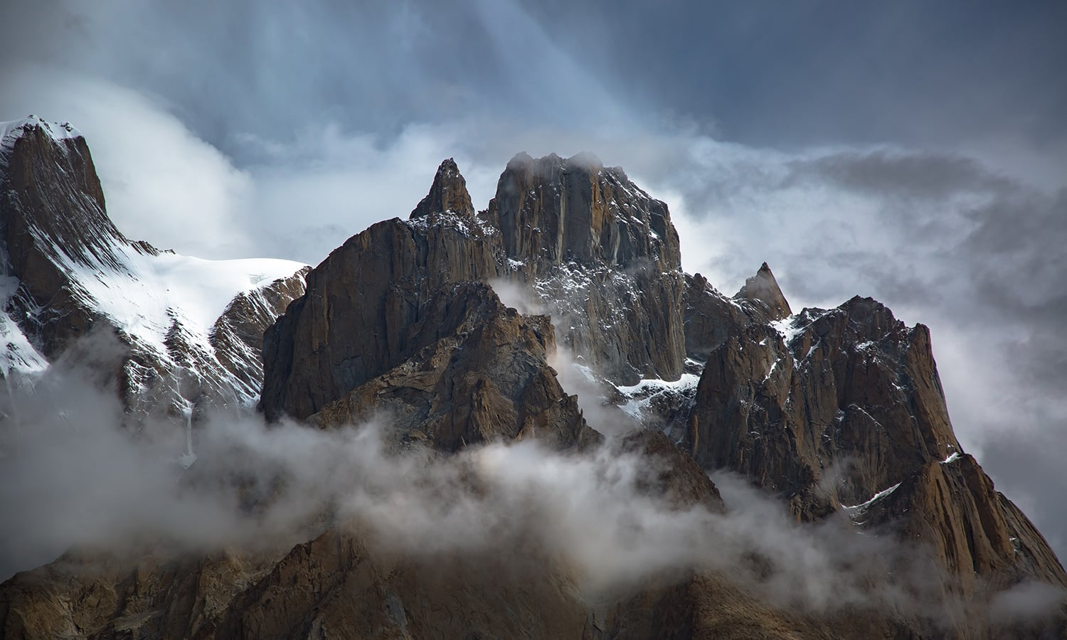 summit rocks of Trango Group.