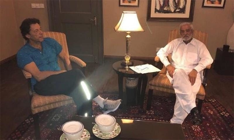 نامزدگی سے پہلے عمران خان اور احسان مانی کی ملاقات: فوٹو سوشل میڈیا