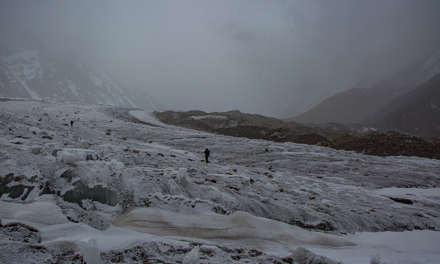 Trekking on the Upper Baltoro Glacier.