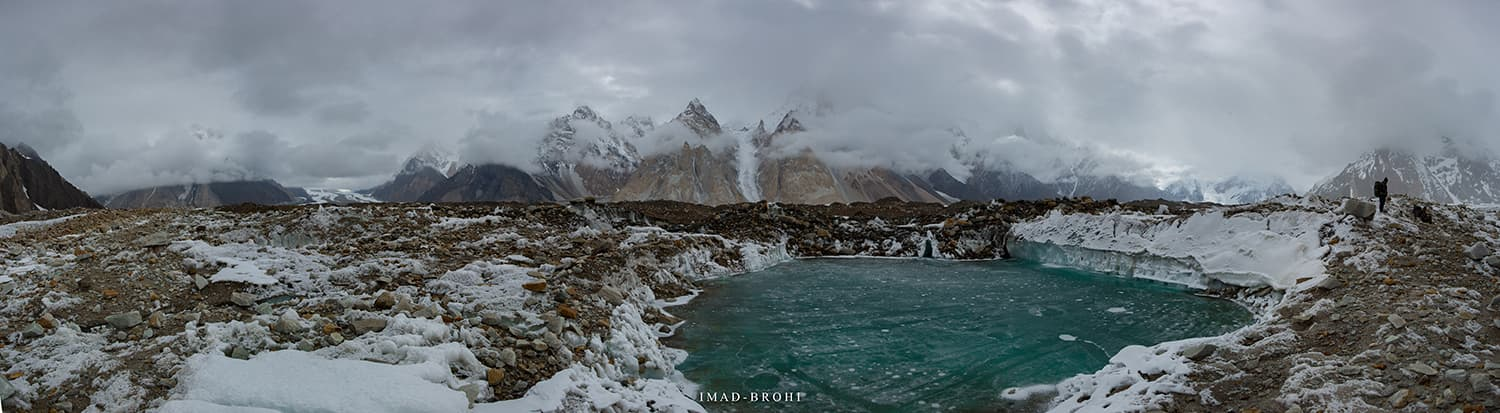 Another glacial pond on the Upper Baltoro Glacier.