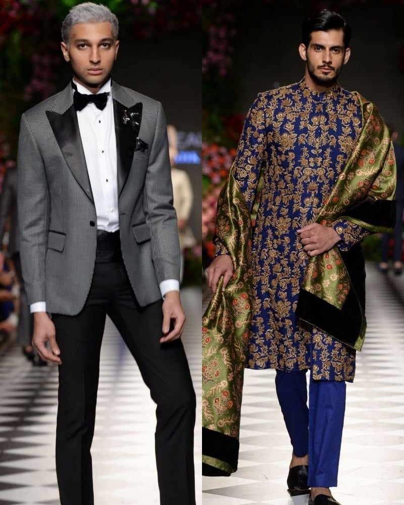He drew inspiration from Rajistan for his collection but it was very subtle