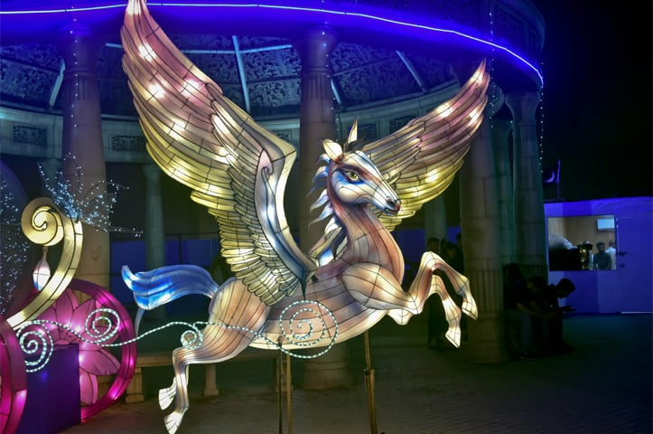 Care to ride a unicorn chariot?