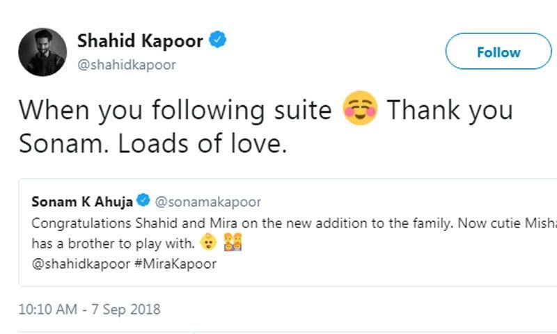 اداکارہ نے شاہد کو کوئی جواب نہیں دیا—اسکرین شاٹ