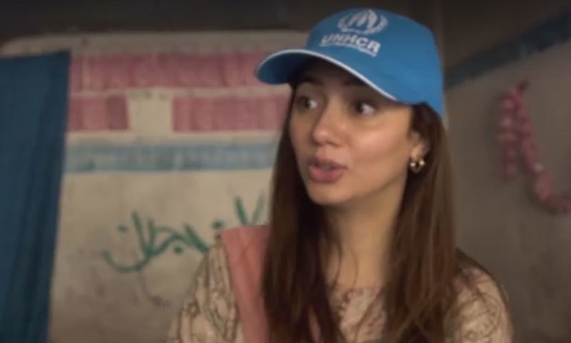اداکارہ نے مہاجر بچوں سے فارسی زبان سکھانے کی درخواست کی—اسکرین شاٹ