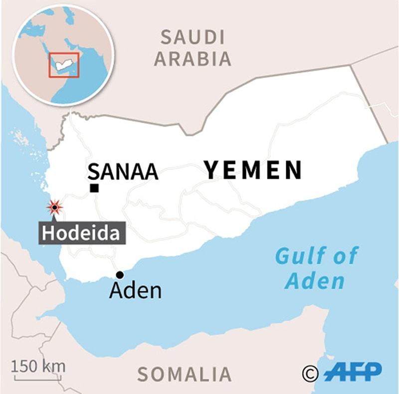 The port city of Hodeida. —AFP