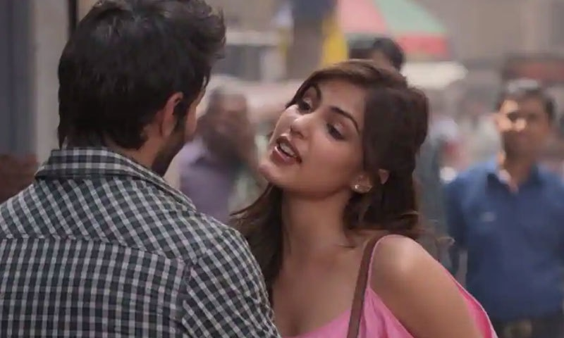 ریا چکربورتی کی یہ پانچویں ہندی فلم ہے—اسکرین شاٹ