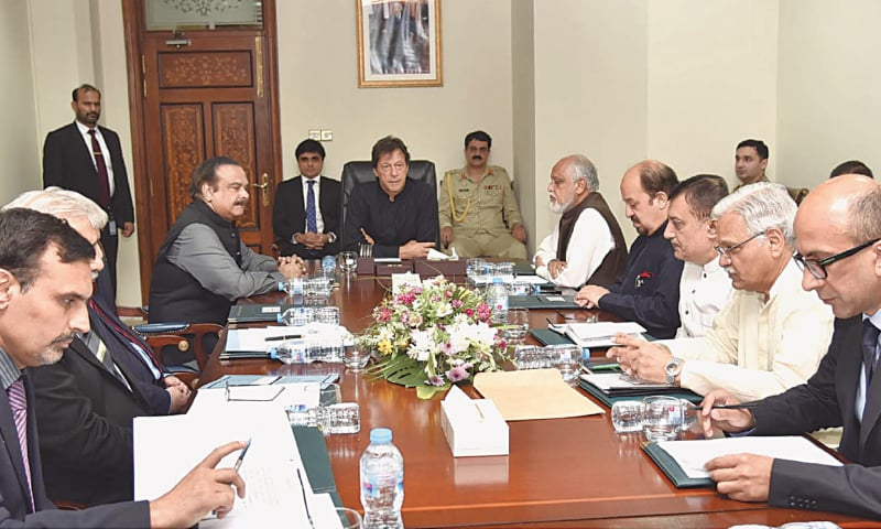 PRIME Minister Imran Khan chairs a meeting to review progress on formulation of a roadmap for construction of five million houses across the country.—Online