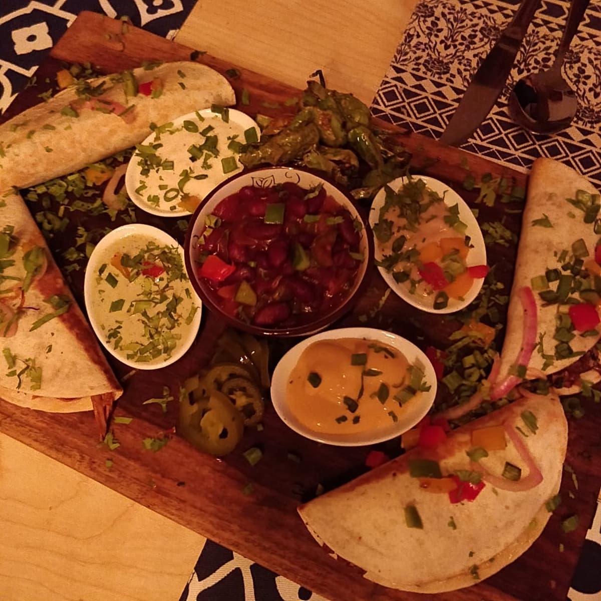 Half taco platter