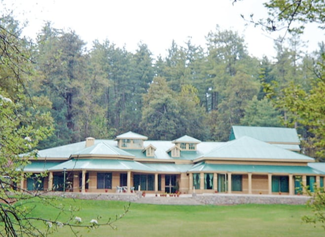 The forest department rest house in Bhurban. — Dawn
