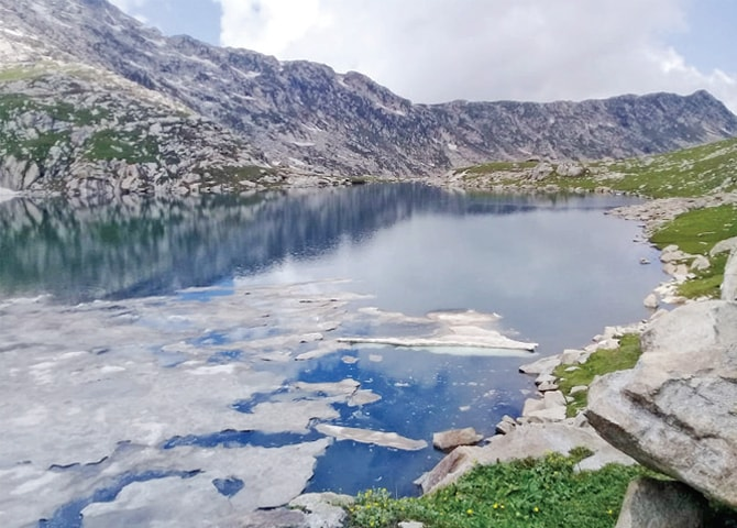 An enchanting view of Sadgai Lake, Upper Dir. — Dawn