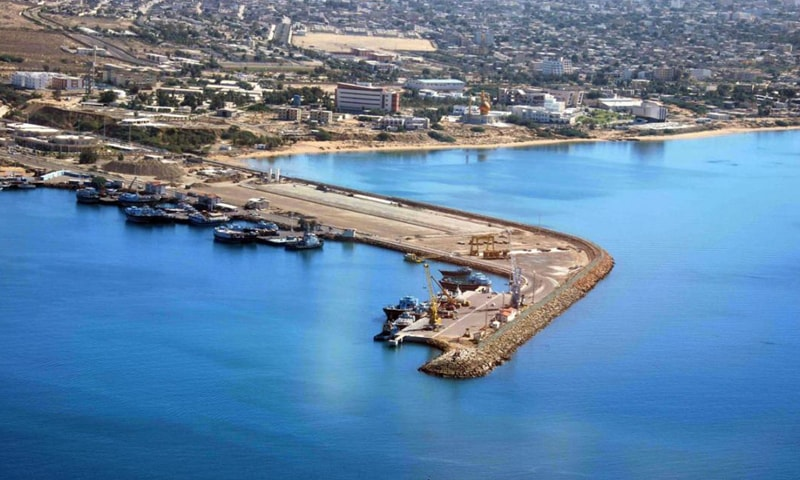 AN aerial view of Chabahar Port in Iran, being built by India. The US has refused to allow any country specific exemptions to the sanctions on Iran, complicating Indian plans for the port.—File photo