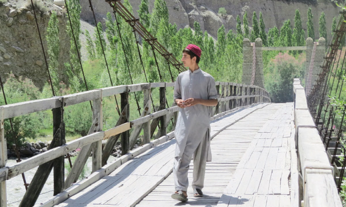 The bridge to Hatoon village in Ghizer | Aurangzaib Khan