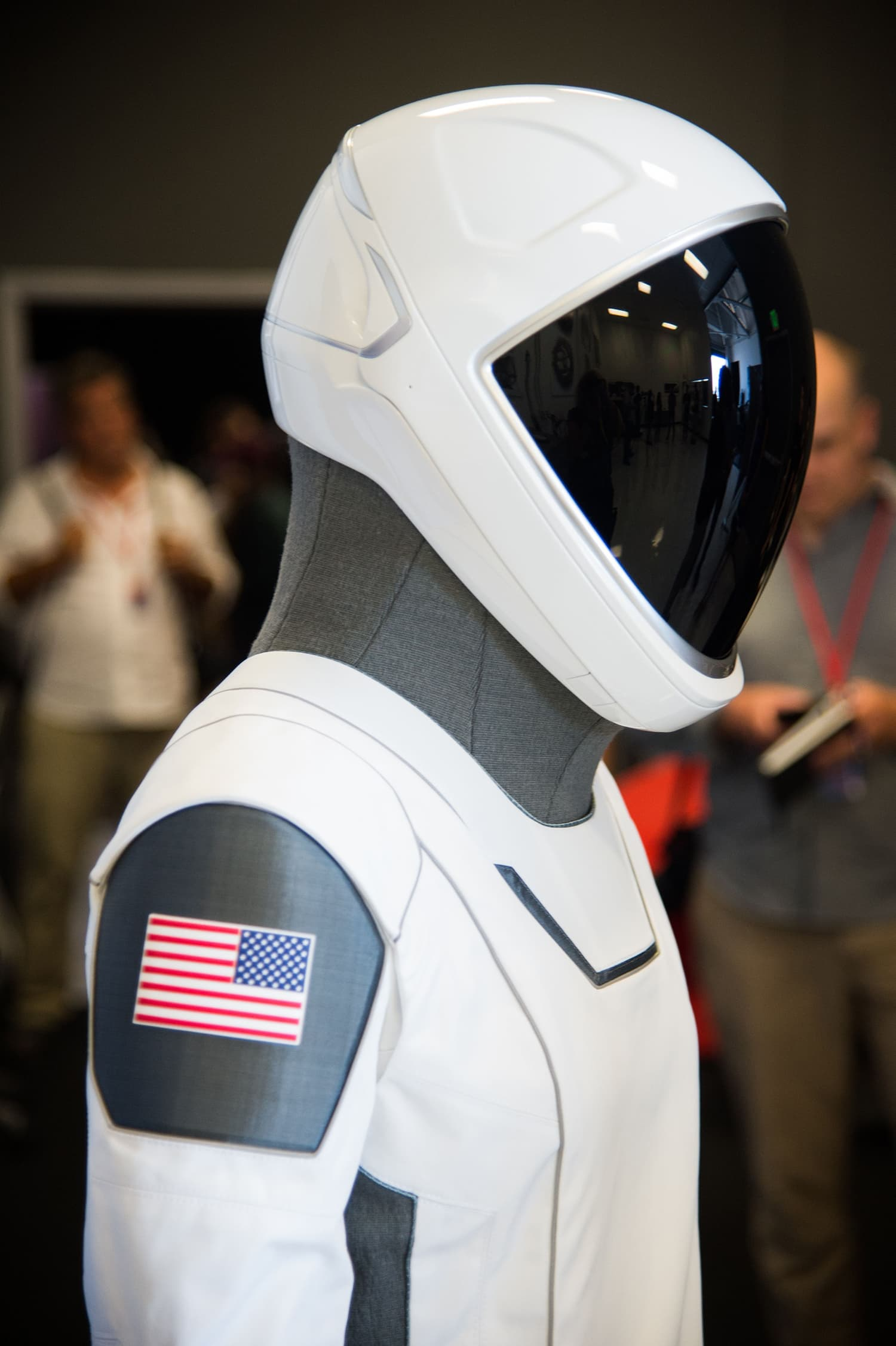 The SpaceX spacesuit to be worn by NASA astronauts aboard the SpaceX Crew Dragon capsule. —AFP