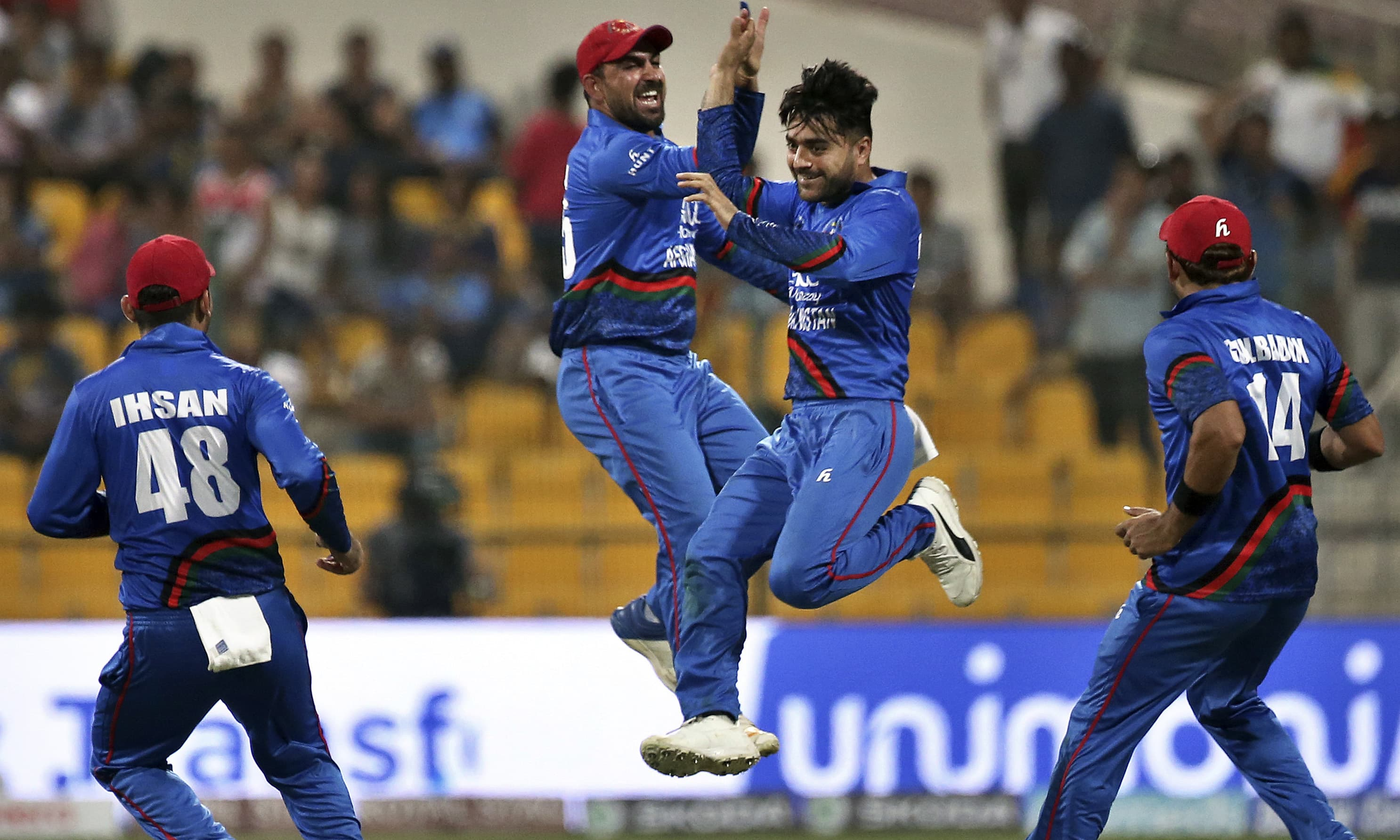 Rashid Khan was one of the stars for Afghanistan in Asia Cup. — File