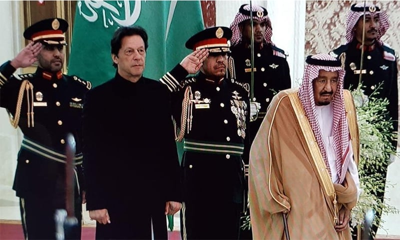 PM Imran Khan and King Salman meet in Jeddah. — Photo courtesy: PTI Twitter account