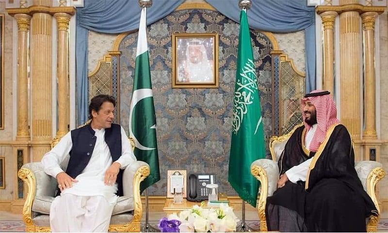 Prime Minister Imran Khan and Saudi Crown Prince Mohammed bin Salman. — Photo courtesy: PTI Twitter account