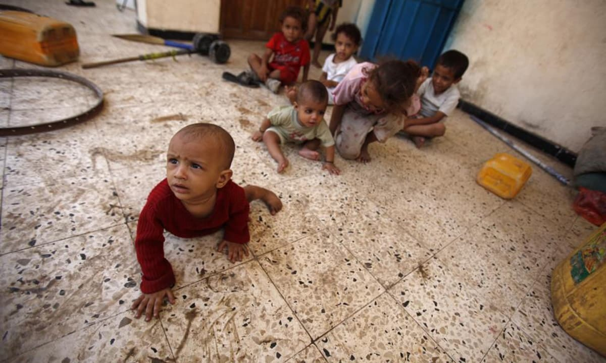 Five million children face famine in war-torn Yemen