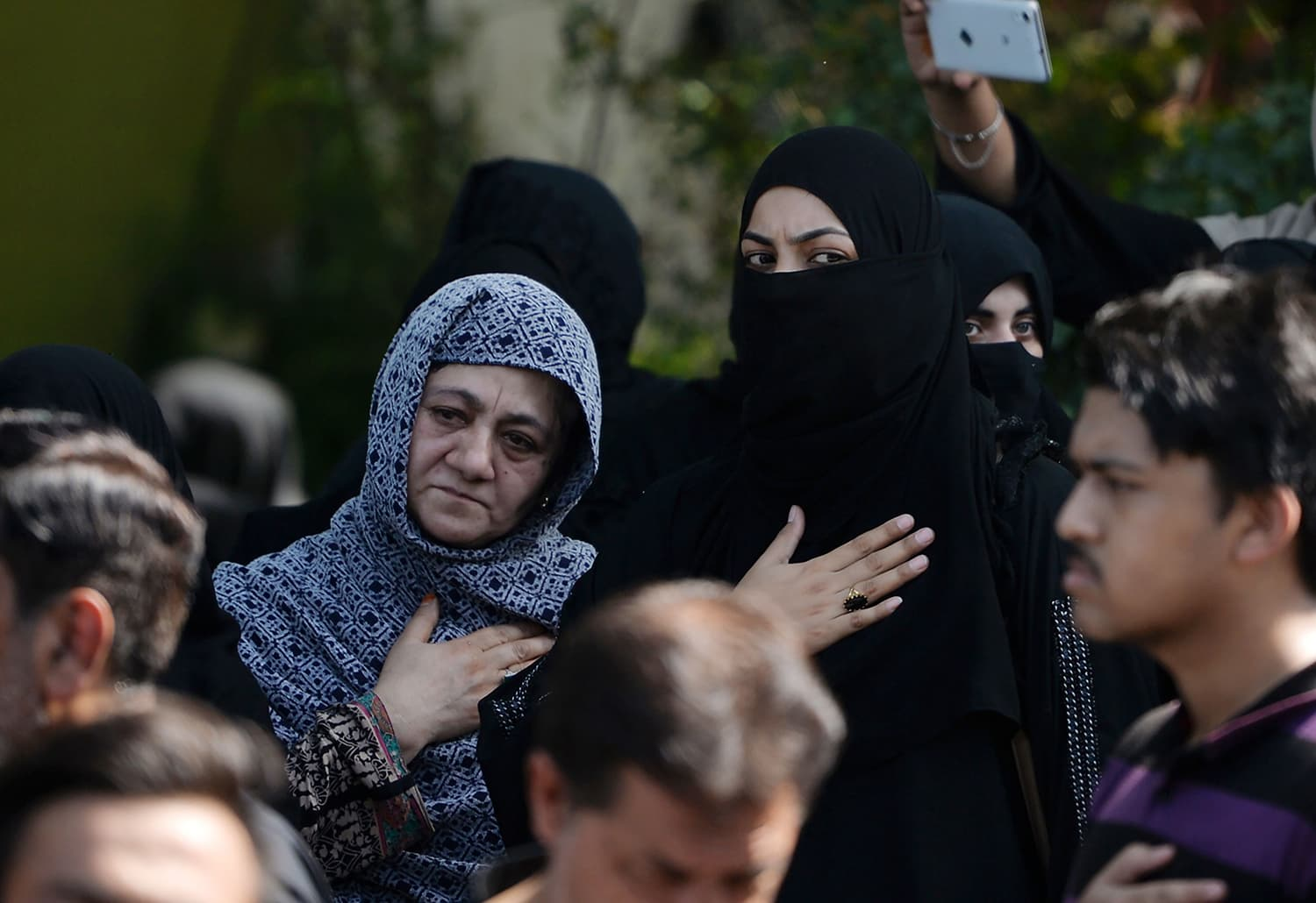 Mourners parade during a Muharram procession in Islamabad.— AFP