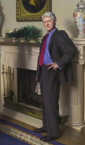 President Bill Clinton's portrait by Nelson Shanks
