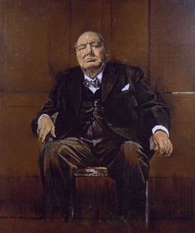 Portrait of Winston Churchill by Graham Sutherland